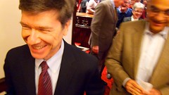 Jeffrey Sachs post-forum and standing ovation