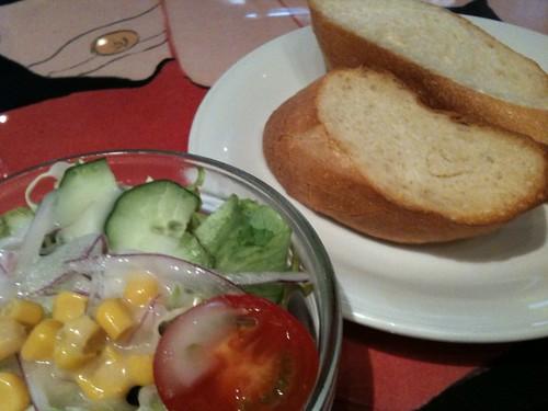 パンとサラダ@ロートレックカフェ