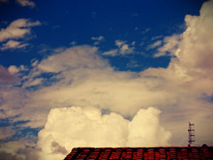 The skies over the rooftops.