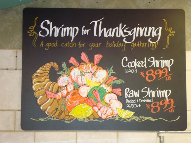 Shrimp for Thanksgiving