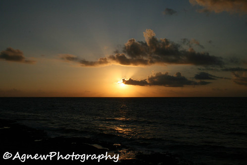 Sunset off the coast of Mexico