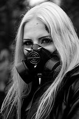 (-- brian cameron --) Tags: blackandwhite bw toronto leather female dead blackwhite blood mask makeup gas blond facepaint gasmasks trinitybellwoods zombiewalk tzw 550d pixelize2blogspotcom torontozombiewalk2011 9thannualtorontozombiewalk