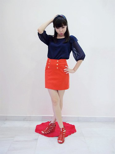 70_Persimmon Bodycon Skirt