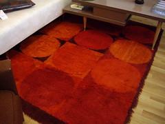 Retro Shag Orange Patterned Rug-SOLD (filmgosales) Tags: vancouver carpet forsale rug shag consignment filmgosales