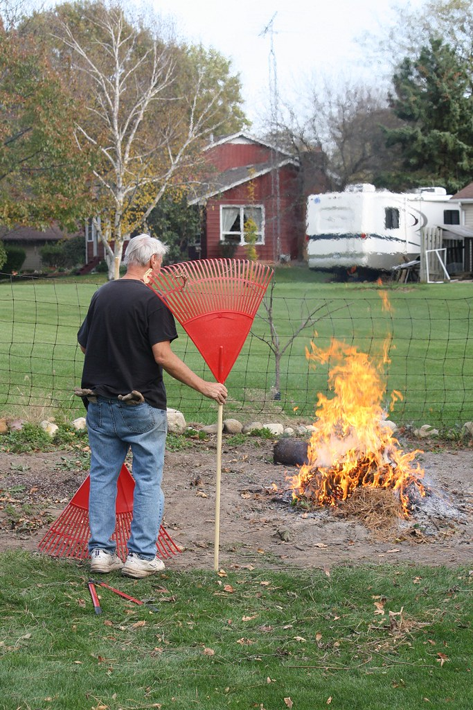 7343 Mike burning