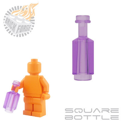 Square Bottle - Trans Purple