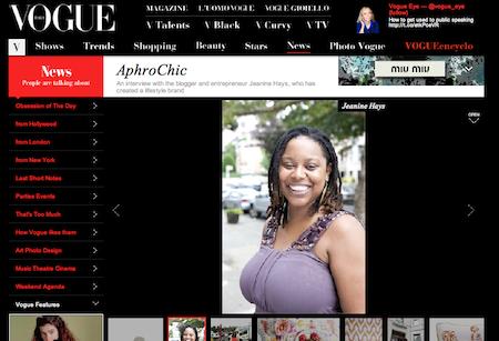 Jeanine Hays featured on Vogue Italia