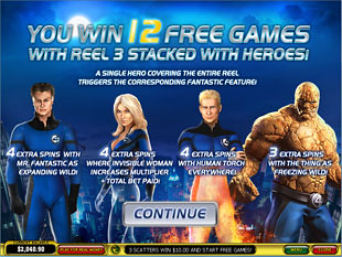 free Fantastic Four slot bonus