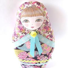 Olga Russian Matryoshka cloth doll (Zouzou Design) Tags: uk babushka russiandoll clothdoll nestingdoll stackingdoll matryoshkadoll russiandollplush softedoll olgadoll