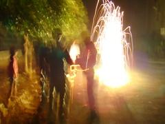 Diwali in Delhi street 2 (Adrakk) Tags: india festival fireworks cracker diwali firecracker ptard inde feudartifice pataka dipavali