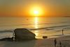 Algarve Sunset ([ Jaso ]) Tags: sunset sea sky orange holiday beach portugal night boats seaside fishing sand aperture rocks surf waves shadows dusk gale filter nik algarve grad neutral nohdr sonynex5