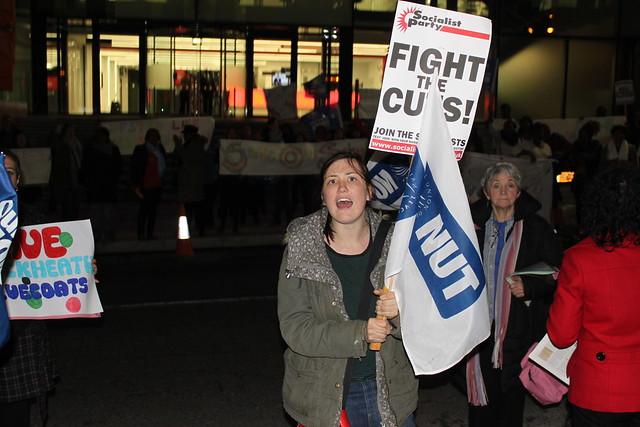 Greenwich Council protest