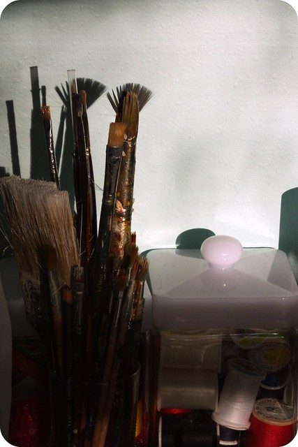 brushes and spools