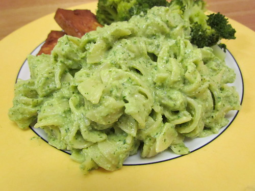 Rotini with Creamy Avocado-Herb Sauce