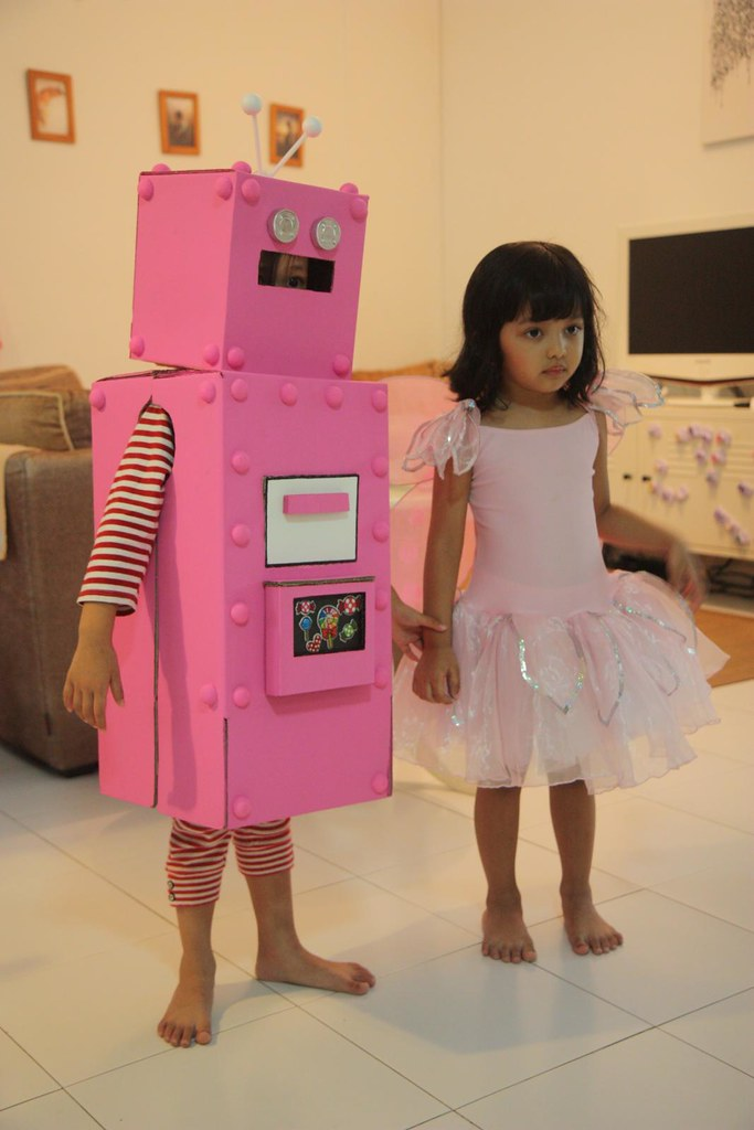 Aina, the Pink Robot & Naia, the Pink Butterfly