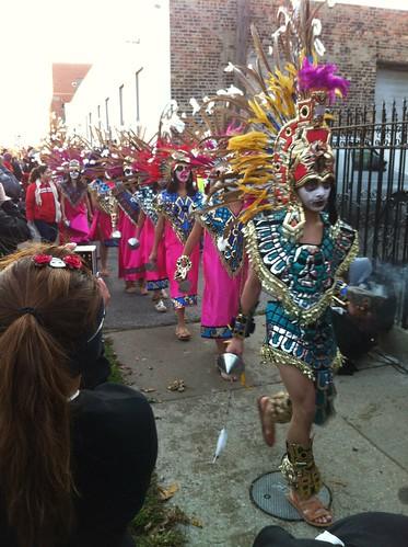 Dancers at the Carrera de los Muertos