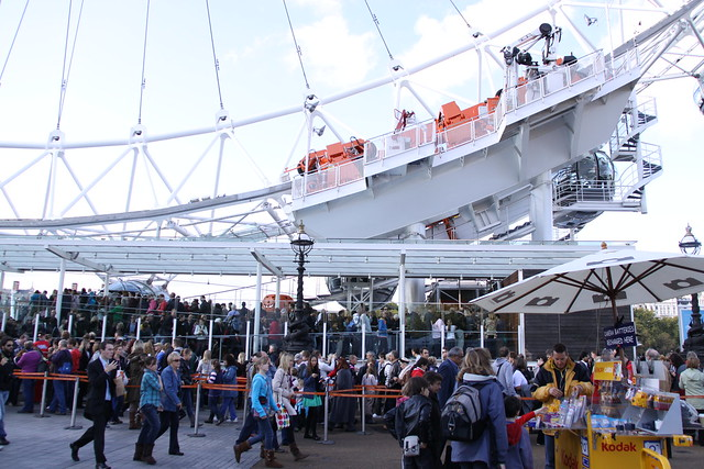 Queue At London Eye