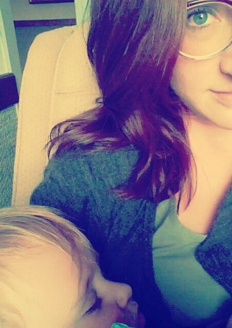 new glasses, sleeping baby.