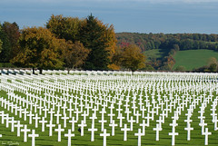 In honored memory (times_like_these) Tags: autumn white memorial cross belgium american henrichapelle woii hombourg americancemeteryandmemorial sooc smetsine