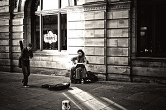 Peer Appreciation (Explored) (stephen cosh (on holiday)) Tags: life street leica city people blackandwhite bw sepia mono scotland town unitedkingdom guitar streetperformers glasgow candid streetphotography rangefinder buskers performers busking reallife humancondition blackandwhitephotos blackwhitephotos leicam9 stephencosh
