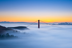 Waiting for the Sun (Joe Azure) Tags: sf sanfrancisco california ca autumn fall fog sunrise landscape bay azure marincounty marinheadlands hawkhill explored
