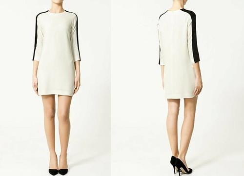 Vestido-combinado-Zara-Primavera-Verano- 2011