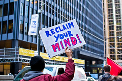 Reclaim your mind! (trmanco) Tags: street people photography movement nikon downtown protest streetphotography photojournalism documentary downtowntoronto occupy d3100 occupytoronto