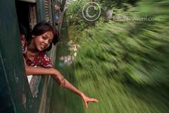 On her own way ( Joy of the journey) (saifsohel) Tags: motion color eye girl smile train canon way tour br hand symbol joy daughter eid railway journey 7d ttl bangladesh canon70200 cameralens airportstation tongi bangladeshrailway onherownway bolaka dhakastation handofgrace