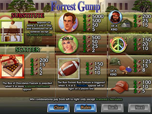 free Forrest Gump slot payout