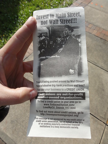 A flyer from Occupy Orlando