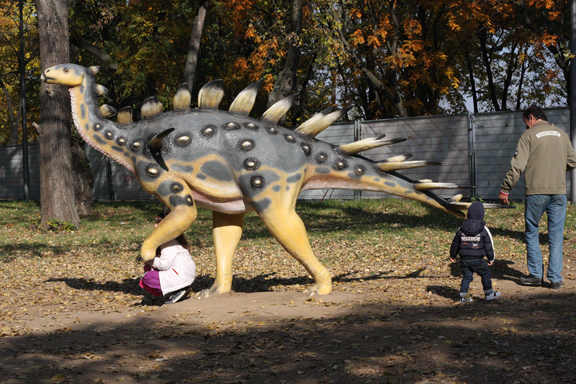 dinosaur exhibition, fall 2011