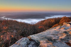 Fog in Little Cove and Grassy Cove, Black Mountain, Cumberland Co, TN (Chuck Sutherland) Tags: fog sunrise landscape tn tennessee karst hdr sinkhole meteorology cumberlandcounty littlecove grassycove cumberlandco