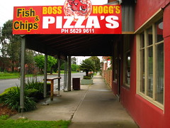 Boss Hogg's (phunnyfotos) Tags: shop canon cafe australia victoria pizza sidewalk shops vic verandah footpath canonpowershots2is fishchips canonpowershot gippsland verandahs longwarry phunnyfotos