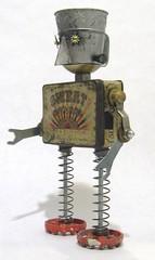 Sweet Caporal (Rivethead Robotics) Tags: sculpture art trash vintage robot junk recycled assemblage retro robots scifi sciencefiction recycle foundart scrap bot robo junkart
