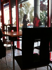 Starbucks Talk (Brave Heart) Tags: ca girls people picture starbucks talking pleasanton gossip iphone pleasantonca peopletalking girlstalking iphonepicture