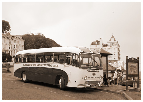 Vintage bus in Llandudno by Helen in Wales