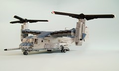 MV-22B Osprey (7) (Mad physicist) Tags: usmc lego military marines osprey v22 tiltrotor mv22b