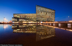 Harpa Concert Hall and Conference Center - Reykjavk Iceland (skarpi - www.skarpi.is) Tags: city blue light music house building art architecture night island design iceland concert construction scenery artist cityscape arty harbour capital center reykjavik reykjavk sland harpa arkitekt