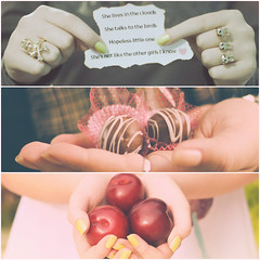 Detalhes que carregam as mos (wichilei) Tags: frutas fruits hands chocolates amarelo rings musica mos doces rasmus anis therasmus