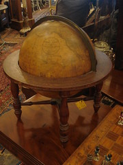 "JOSLIN 12-INCH TERRESTRIAL GLOBE IN FOUR-LEGGED STAND. • <a style=""font-size:0.8em;"" href=""http://www.flickr.com/photos/51721355@N02/6354311319/"" target=""_blank"">View on Flickr</a>"