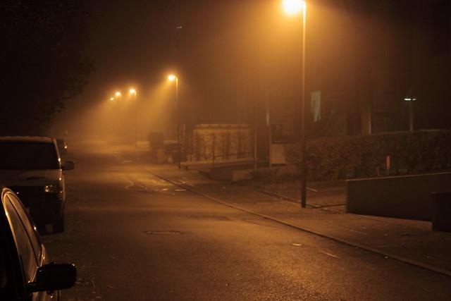 calle neblinosa