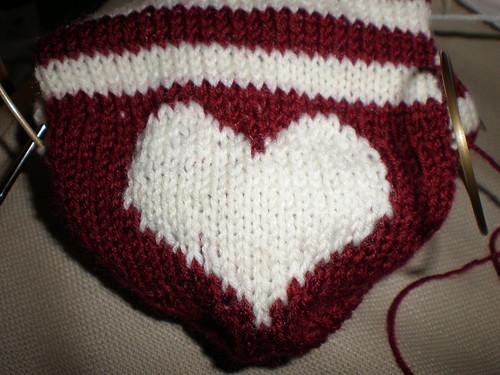 Heart Sock Heel
