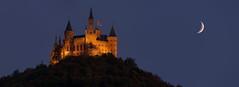 Hechingen - Burg Hohenzollern (cndrs) Tags: moon castle mond schloss burg hechingen hohenzollern