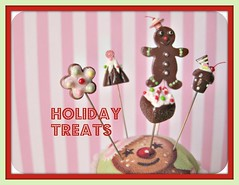 holiday treats (Pinks & Needles (used to be Gigi & Big Red)) Tags: holiday glitter cherry miniature cookie chocolate stripes treats decoration gingerbread sparkle cupcake tiny sweets etsy gingerbreadhouse candycane teeny lollipops gingerbreadman inedible 2011 buttermint gigiminor pinksandneedles pintoppers buttermintgables