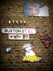 Buxton Street E1 (trailerfullofpix) Tags: street streetart london sign tile geotagged chess shoreditch torso hackney e1 spitalfields streetname duk eastend asbestos 2011 buxtonstreet xylo czk cityzenkane geo:lat=5152197137222943 geo:lon=007164874288332612