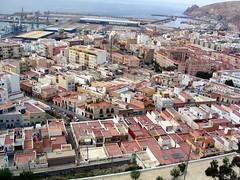 Almeria Spain (Rubber Dragon) Tags: city panorama coast spain almeria birdseyeview elevatedview