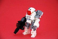 "Prototype Heavy-Class Mobile Frame ""White Wolf"" (Mags) Tags: light red white mobile robot photo gun lego yes some frame thats sort mech bfg on the hardsuit bley of holosight"