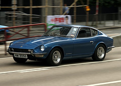 Datsun | 240Z | NM 2056 | Central District | Hong Kong | China (Christian Junker | PHOTOGRAPHY) Tags: auto china blue car canon hongkong eos classiccar automobile asia exotic 7d panning supercar sar hongkongisland datsun 240z luxurycar centraldistrict carspotting supersportscar rarecar japanesecar 18135mm worldcars worldtrekker worldofcars nm2056