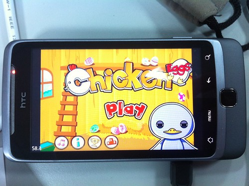 Chicken get his First step on Android