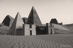 Bejrawia Pyramids.. (Faisal M. Zahran) Tags: nature landscape nikon sudan pyramids sands faisal desart zahran marawi bejrawia